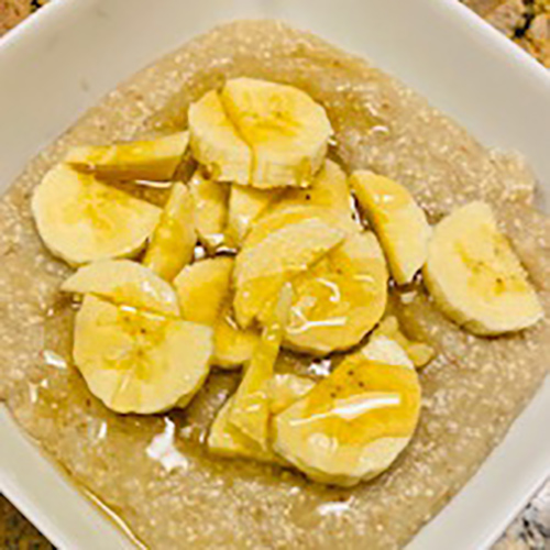 Creamy Grits Sweetened with Dates & Bananas